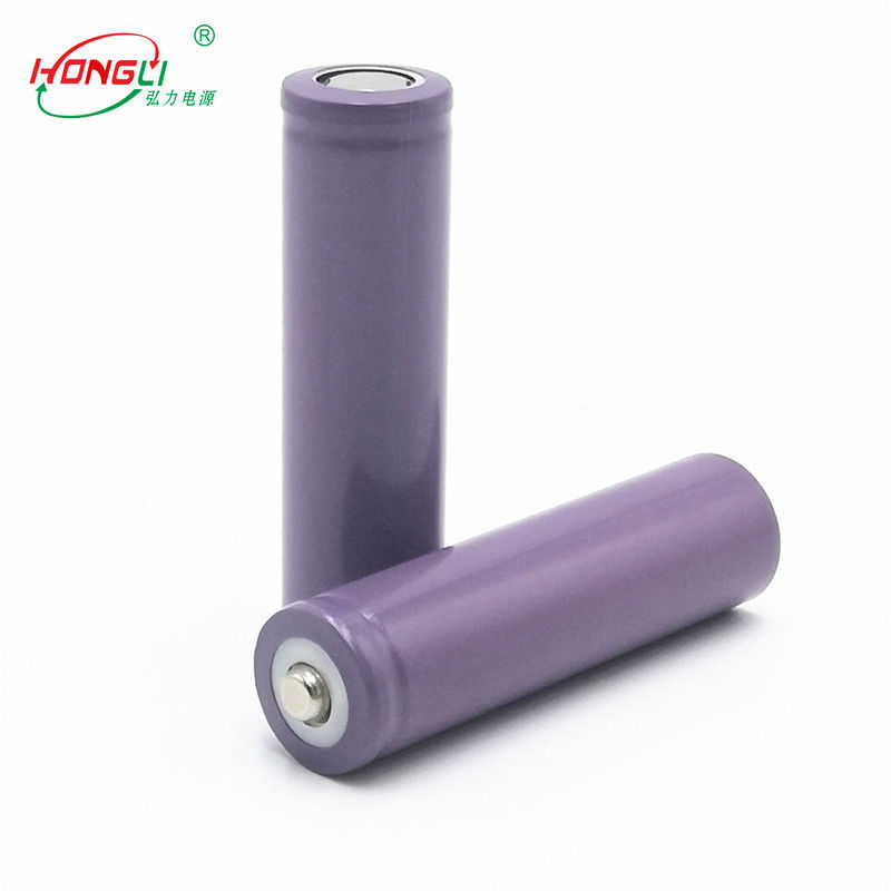 Purple 18650 1200mAh 3.7 V Lithium Ion Cell Impedance Below 60mΩ